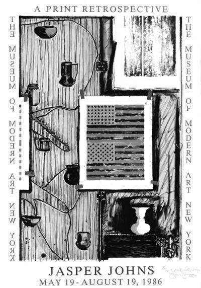 Jasper Johns-Ventriloquist (ulae 236)-1986