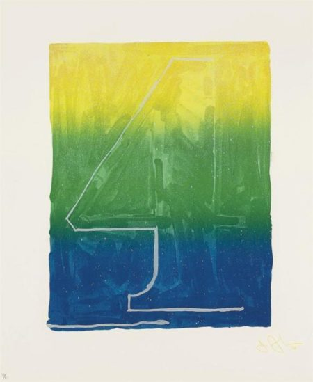 Jasper Johns-Figure 4, from Color Numeral Series (ULAE 63)-1969
