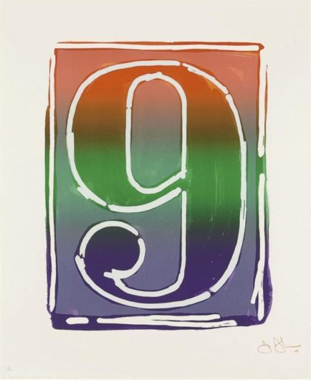 Jasper Johns-Figure 9, from Color Numeral Series (ULAE 68)-1969