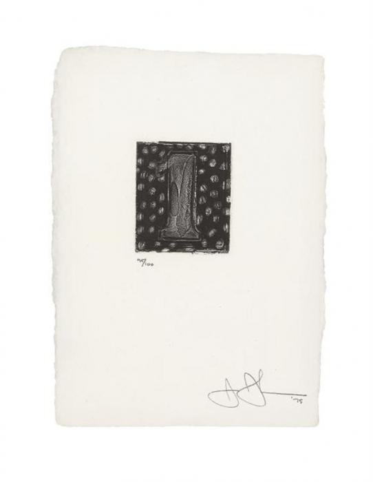 Jasper Johns-1 (ULAE 157)-1975