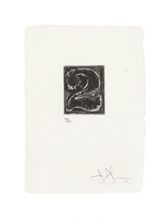 Jasper Johns-Figure 2 (ULAE 158)-1975