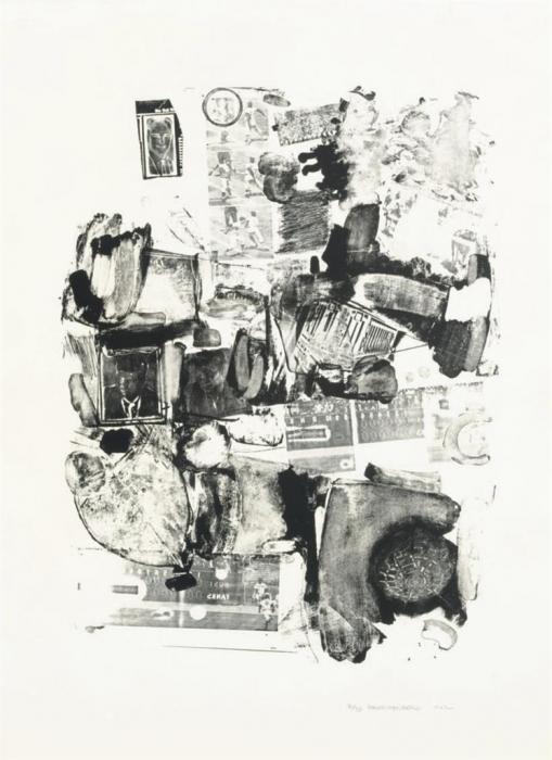 Robert Rauschenberg-Robert Rauschenberg - Urban (Foster 6; Sparks 3)-1962