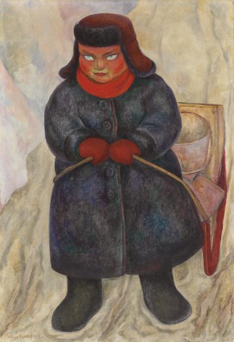 Diego Rivera-Nino Sovietico-1956