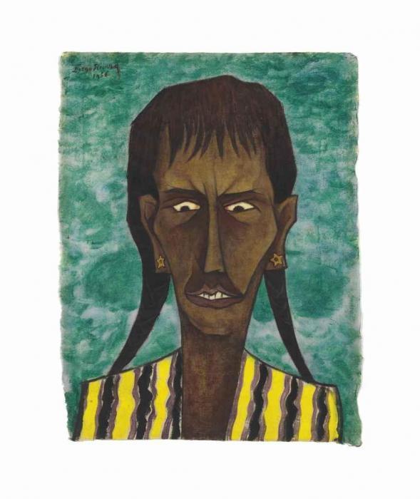 Diego Rivera-La Mujer del Ahogado-1956