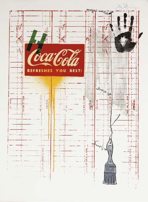 Jasper Johns-Untitled (Coca-Cola and Grid) (ULAE 99)-1971