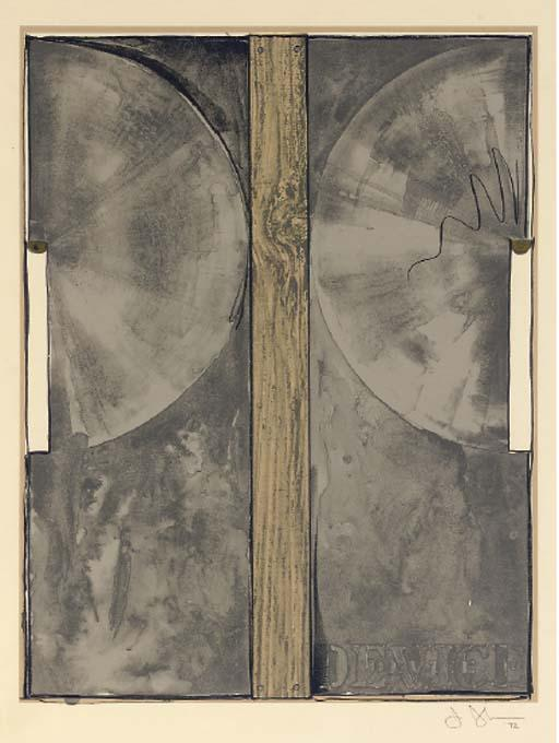 Jasper Johns-Device (ULAE 107)-1972