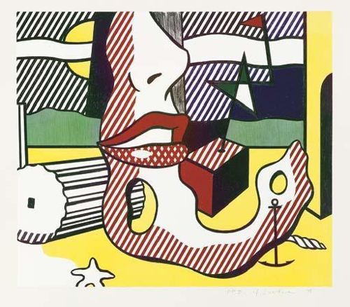 Roy Lichtenstein-Bright Light (from The Surrealist Series)-1978