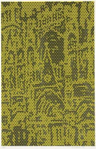 Roy Lichtenstein-Cathedral #5, from Cathedral Series-1969