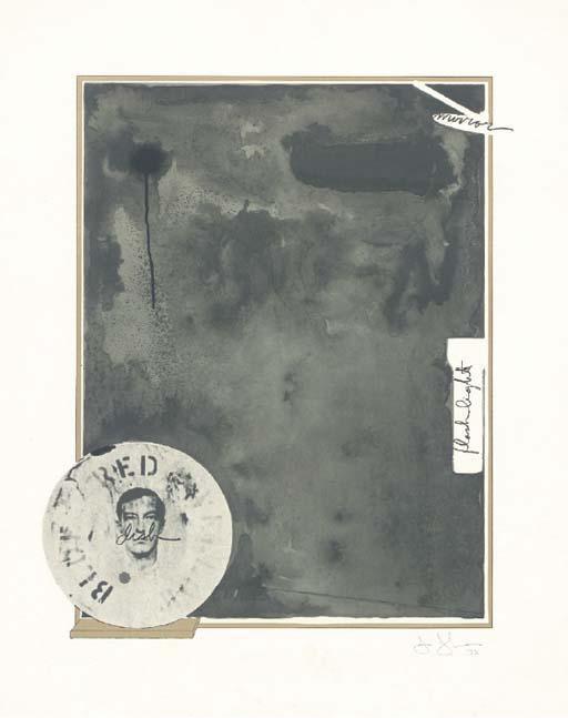 Jasper Johns-Souvenir I (ulae 111)-1972