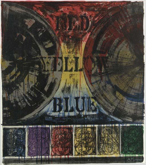 Jasper Johns-Untitled (ULAE 206)-1980