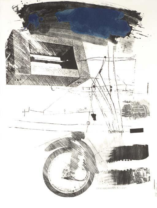 Robert Rauschenberg-Robert Rauschenberg - Test Stone # 4/ Test Stone # 6 (From Booster And Seven Studies)-1967