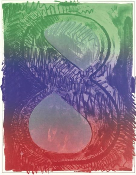 Jasper Johns-Figure 8, From Color Numeral Series (Ulae 67)-1969
