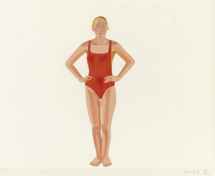 Alex Katz-Swimmer (S. 235; Blum 40)-1991