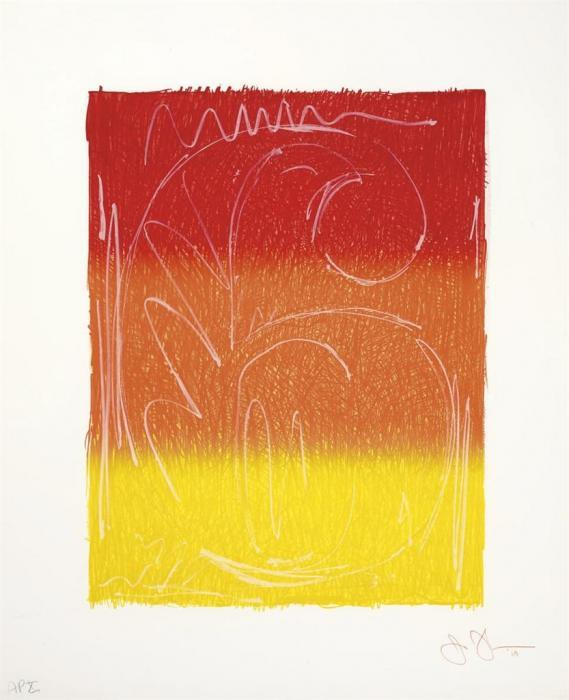 Jasper Johns-Figure 6, from Color Numeral Series (ULAE 65)-1969