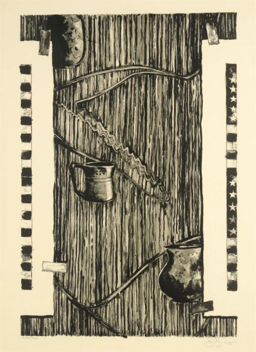 Jasper Johns-Ventriloquist (ULAE 250)-1990