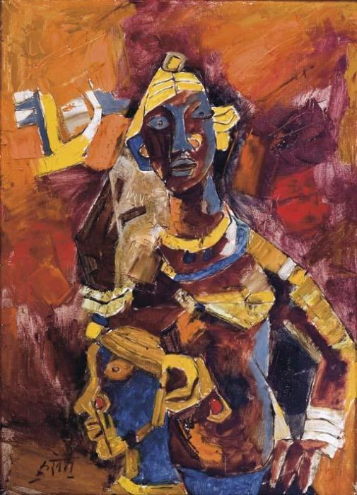 Maqbool Fida Husain-The Tribal Women-