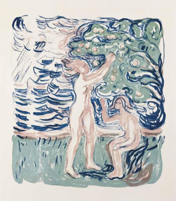 Edvard Munch-Neutralia / Noytralien / Apfelpflucken / Girls Picking Apples (Sch. 459; W. 527)-1915