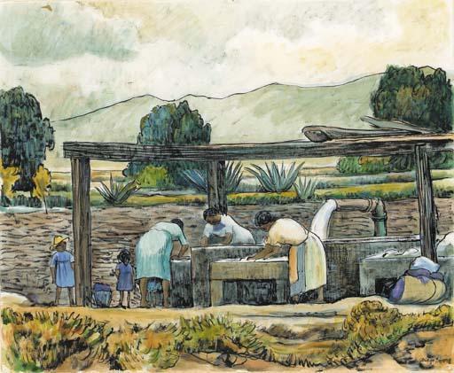 Diego Rivera-Lavanderas-1937