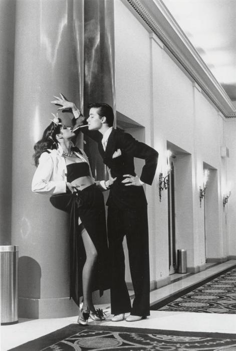 Helmut Newton-Woman into Man, French Vogue, Paris-1979