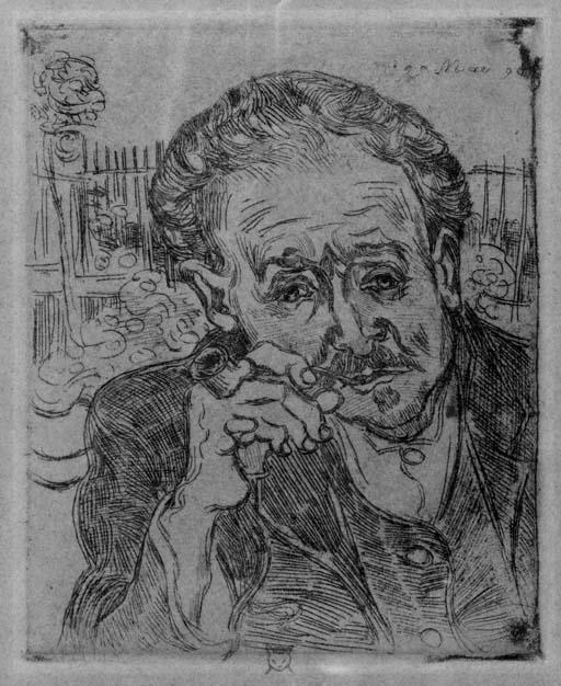 Vincent van Gogh-L'Homme a la pipe - Portrait of Dr.Gachet-1890