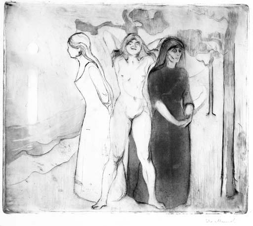 Edvard Munch-Das Weib / The Woman II-1895