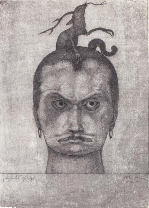 Paul Klee-Drohendes Haupt - Inv.10-1905