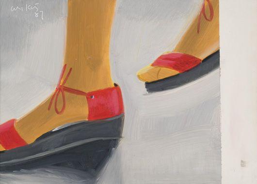 Alex Katz-Red Sandals-1987
