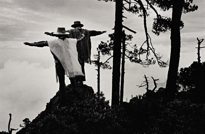 Sebastiao Salgado-Praying to Mixe God, Oaxaca, Mexico-1980