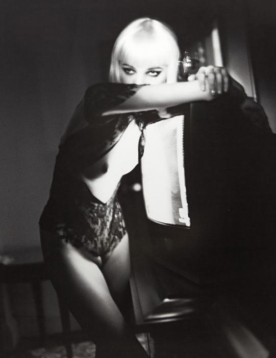 Helmut Newton-Blonde and T.V., Hotel Gallia, Milan-2002