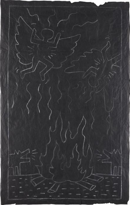 Keith Haring-Keith Haring - Angels and Coyotes-1982