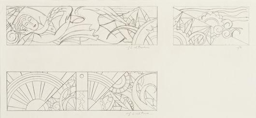 Roy Lichtenstein-Untitled (Sheets of Studies for Leda & the Swan)-1968