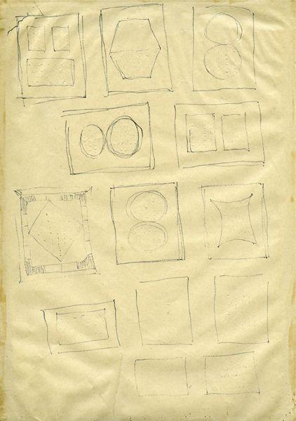 Lucio Fontana-Studi per Buchi-1961