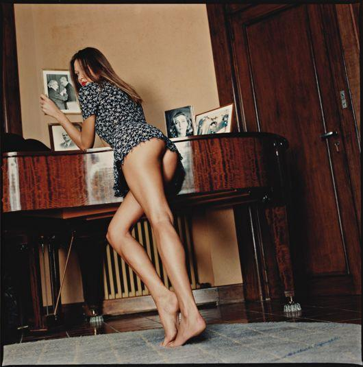 Helmut Newton-Carla Bruni With Family Photos, At Home In Cavaliere, France (1992)-1992