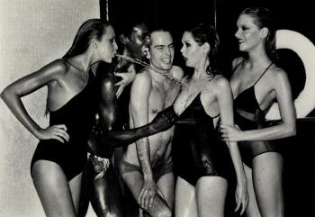 Helmut Newton-Jerry Hall Spitting, French Vogue, Paris-1978