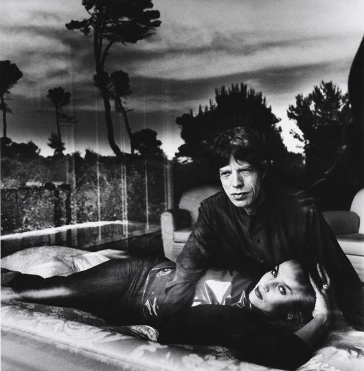 Helmut Newton-Mick Jagger and Jerry Hall, Cap d'Antibes-1991