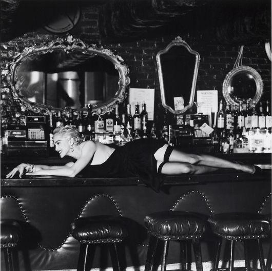 Helmut Newton-Madonna at Small's Bar, Hollywood-1990