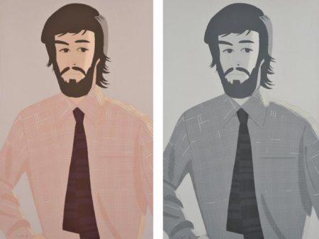 Alex Katz-Plaid Shirt 1 (Maravell 127); Plaid Shirt 2 (Maravell 128)-1981