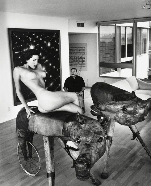 Helmut Newton-Domestic Nude VI and Art Dealer, Los Angeles-1992