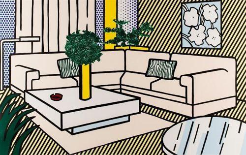Roy Lichtenstein-Yellow Vase, from Interior Series-1990