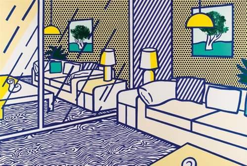 Roy Lichtenstein-Blue Floor (from Interior Series)-1990