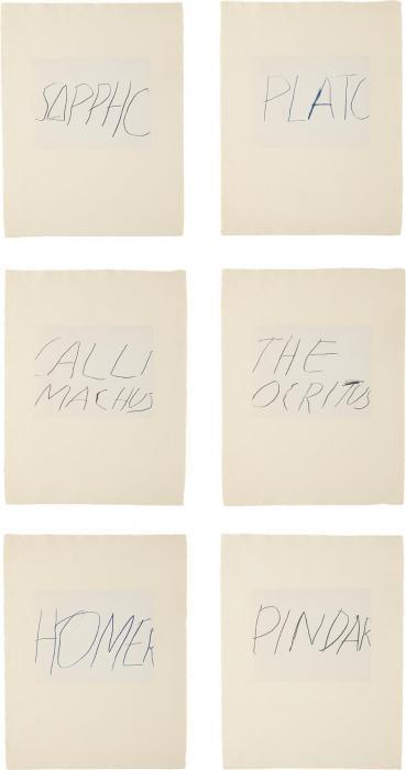 Cy Twombly-Five Greek Poets and a Philosopher portfolio-1978