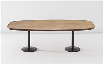 Le Corbusier-Large and rare table, from the Institute of Indology, Ahmedabad, India-1960
