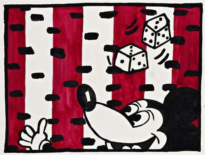 Keith Haring-Keith Haring - Mickey Mouse-1981