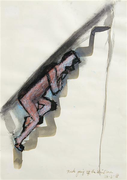 Marlene Dumas-Nude Going Up The Staircase-1987