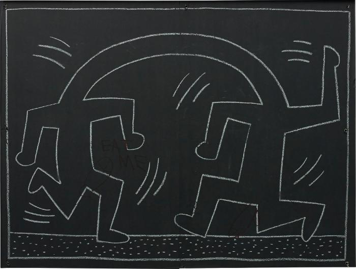 Keith Haring-Keith Haring - Subway Drawing-1984