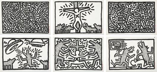 Keith Haring-Keith Haring - Untitled I-VI suite-1982