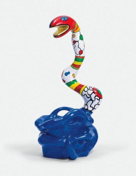 Niki de Saint Phalle-Pouf Serpent bleu-1991