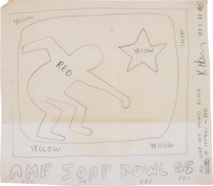 Keith Haring-Keith Haring - Untitled (Soap Bowl)-1984