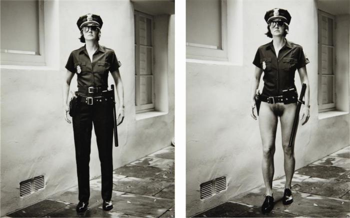Helmut Newton-Evi The Cop, Beverly Hills (1996)-1996