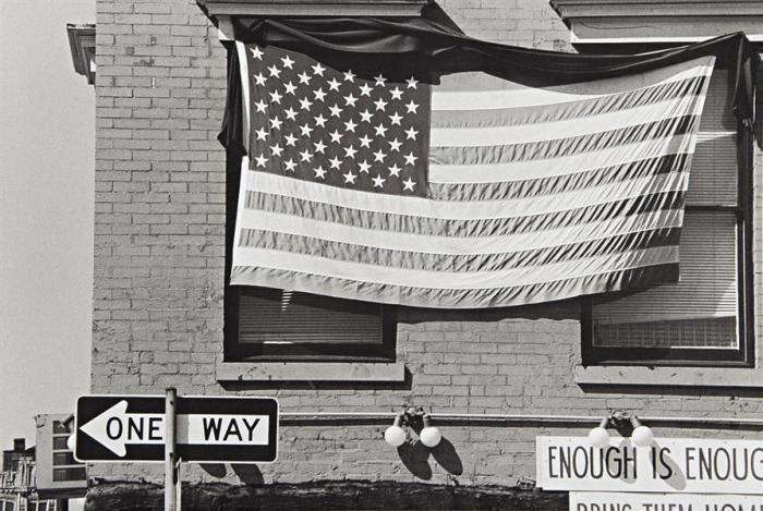 Robert Rauschenberg-Robert Rauschenberg - American Flag- Enough is Enough-1980
